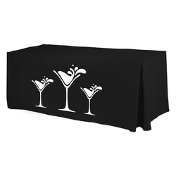 1 Color Economy 6' Fitted Table Cover - Standard Poly Fabric