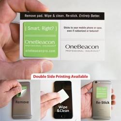 Pluswipe Full Color Microfiber Sticky Screen Cleaner Sticker Square (1.5) C-Series