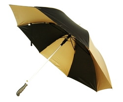 The 56 Arc Black/Metallic Gold Auto Open Umbrella