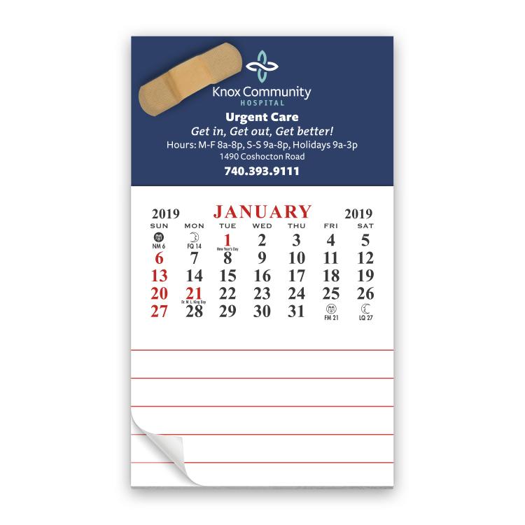 Business Card Calendar l Adhesive Business Card Calendars ...