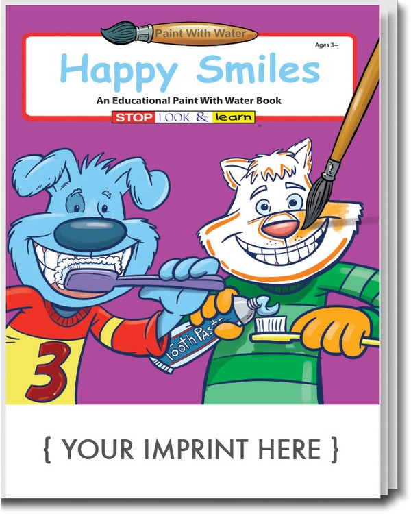 PAINT WITH WATER - Happy Smiles Paint with Water Book