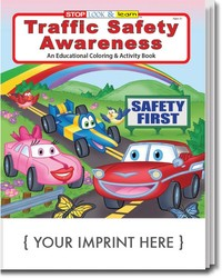 COLORING BOOK - Traffic Safety Awareness Coloring & Activity Book - Coloring Book