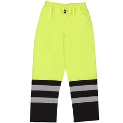 S849 Aware Wear ANSI Class E Two-Tone Hi Viz Lime Rain Pants (5X-Large)