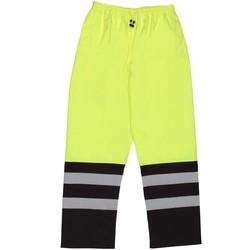 S849 Aware Wear ANSI Class E Two-Tone Hi Viz Lime Rain Pants (5X-Large)