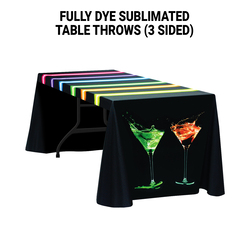 Digital 6' Table Throw - Open Back - Standard Poly Fabric