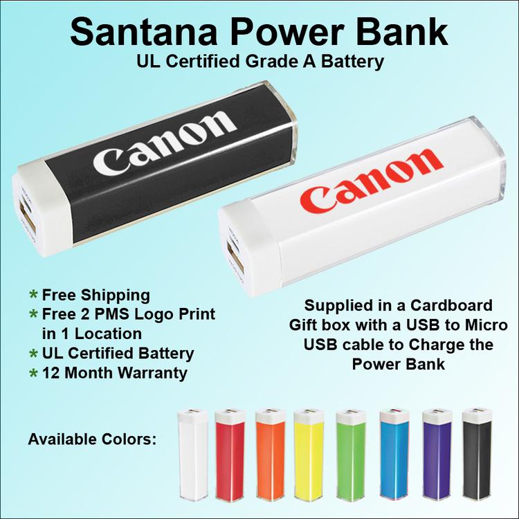 Santana Power Bank - 1800 mAh - Santana Power Bank - 1800 mAh