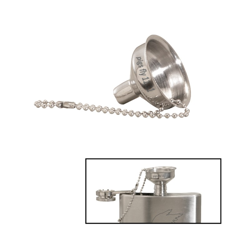 Mini Polished Stainless Steel Flask Funnel