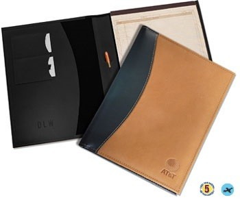 Deluxe Leather Portfolio Pad Holder