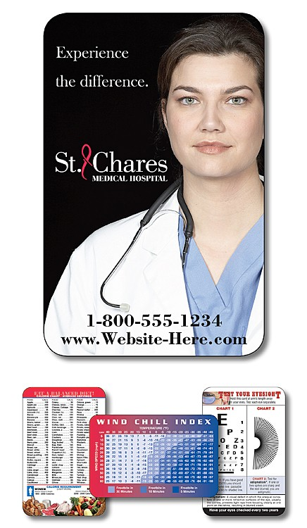 Health Laminated Wallet Card - 3.5x2.25 (2-Sided) - 14 pt.