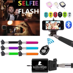 iBank® Selfie Stick+Bluetooth Shutter+Mini Flashlight