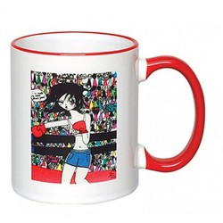 Full Color Photo Sublimated Ceramic Mug 11oz, C Shaped handle-2