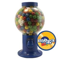 Blue Gumball Machine with Gum - Bubble Gum - bubble gum
