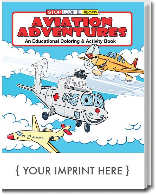 COLORING BOOK - Aviation Adventures Coloring & Activity Book - 0572 ...