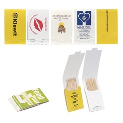 Toothpick Booklet w/10 Toothpicks & 4 Color Process Printing (CMYK)