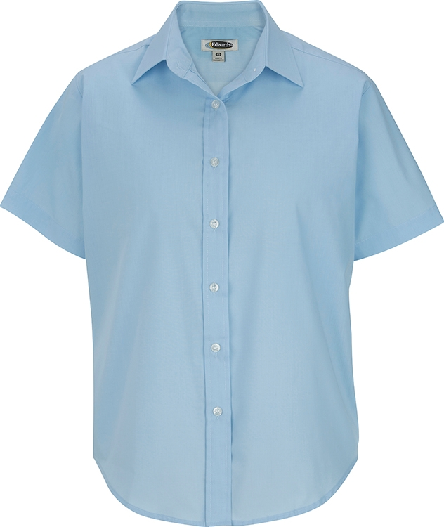 12154f94 EDWARDS LADIES' SHORT SLEEVE VALUE BROADCLOTH SHIRT - 5313   Merrillville  promotional products