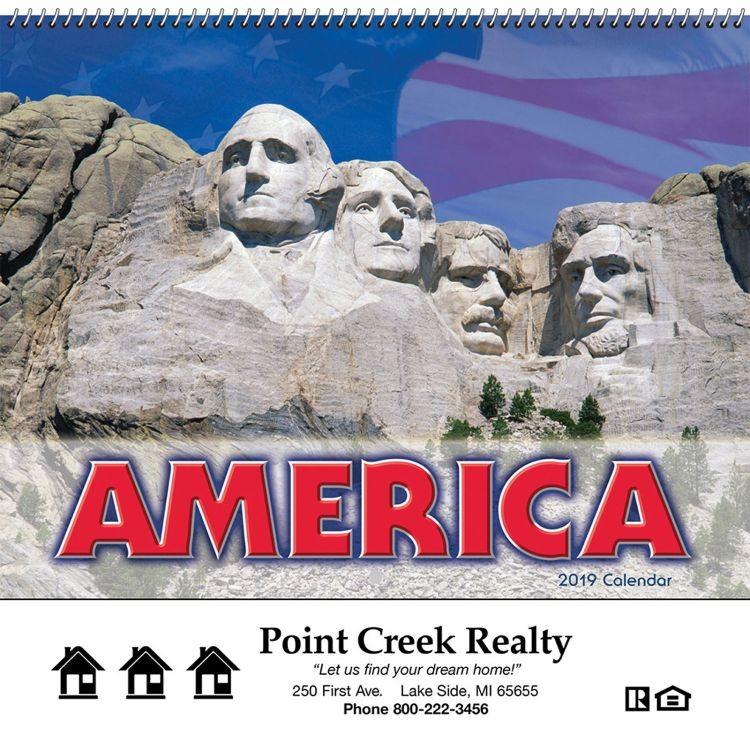 America! Wall Calendar - Spiral