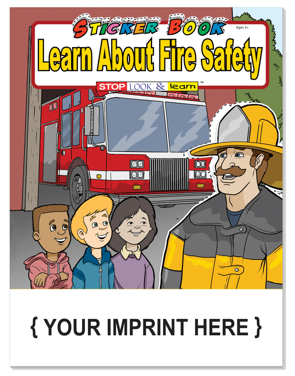 STICKER BOOK - Learn About Fire Safety Sticker Book
