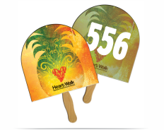 Auction Bid Paddles - Fans Printed with Consecutive Numbering