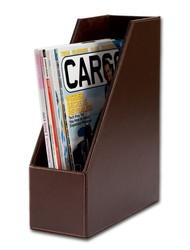 Brown Econo Line Leather Magazine Rack