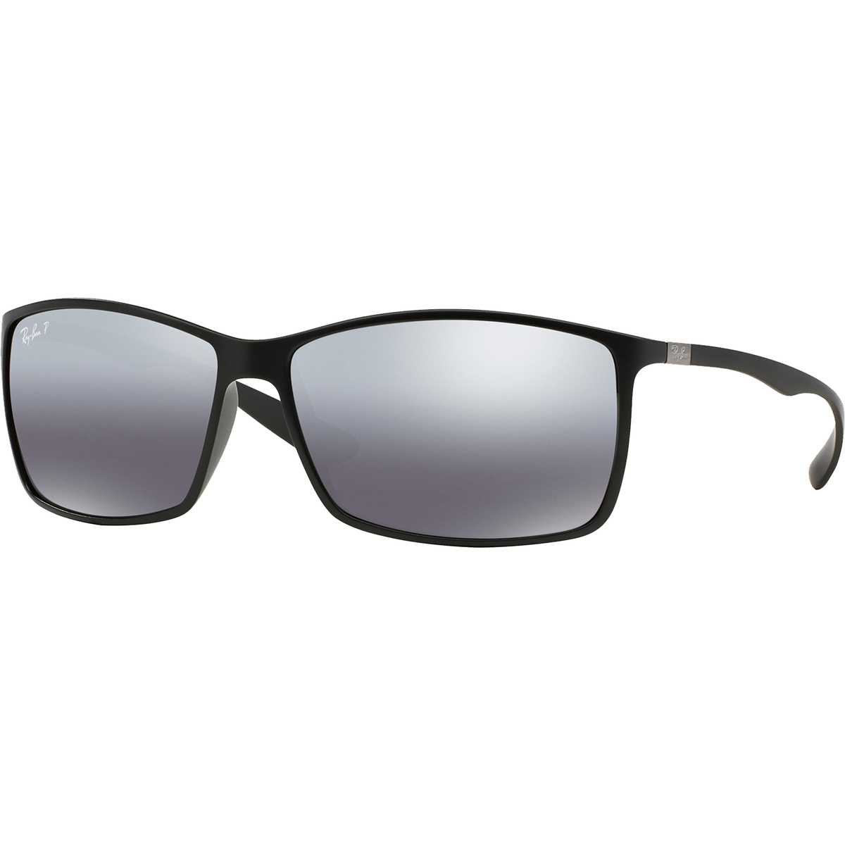 f6e033c914c41 Ray-Ban Polarized Liteforce Sunglasses - Black Silver Mirror   0RB4179601S8262