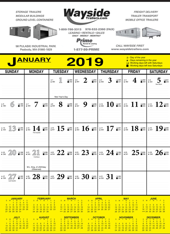Economy Contractor\'s Commercial Wall Calendar - BEST PRICE