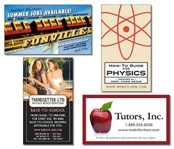 School Business Card Magnet - 3.5x2 (Square Corners) - 25 mil.