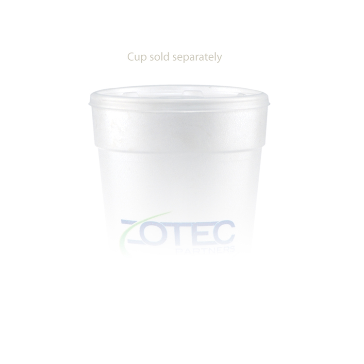24 oz Foam Cup Straw Slot Lid - Frosted