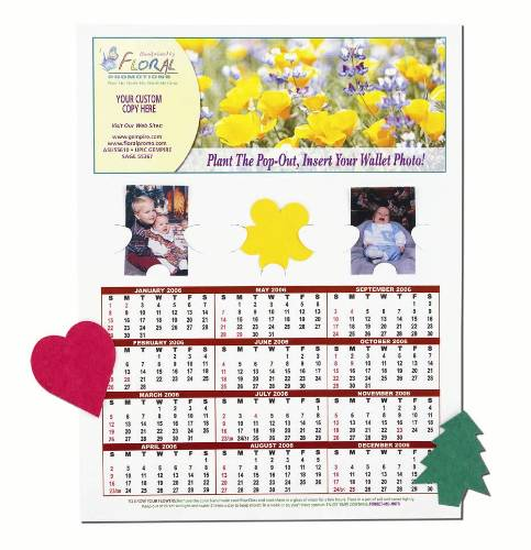Seeded Paper Pop-Out Calendars