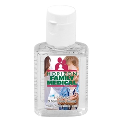 5 oz Compact Hand Sanitizer Antibacterial Gel in Flip-Top Squeeze Bottle (PhotoImage 4 Color)