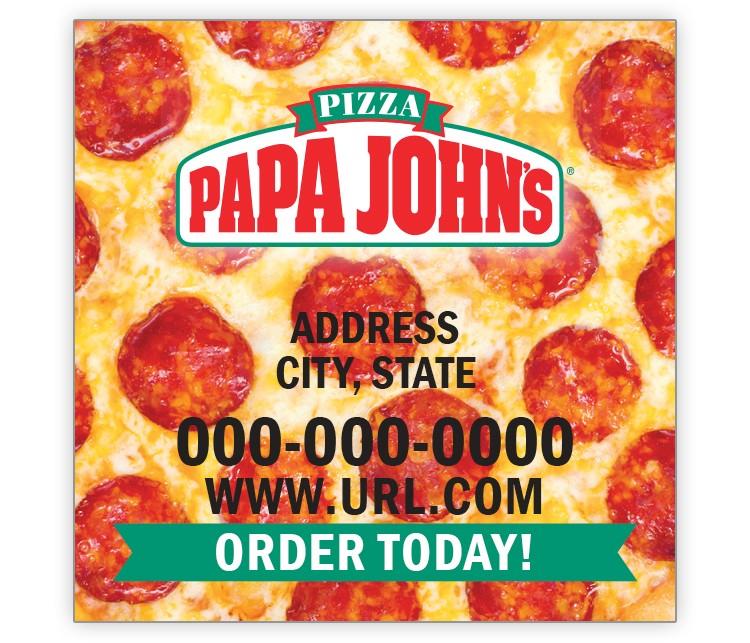 Papa John's 2x2 Keeper Magnet - Pepperoni