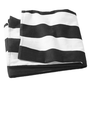 Port & Company Cabana Stripe Beach Towel.