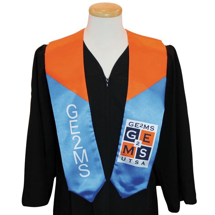 5 x 60 Custom Wet Dyed Polyester Graduation Sash / Stole