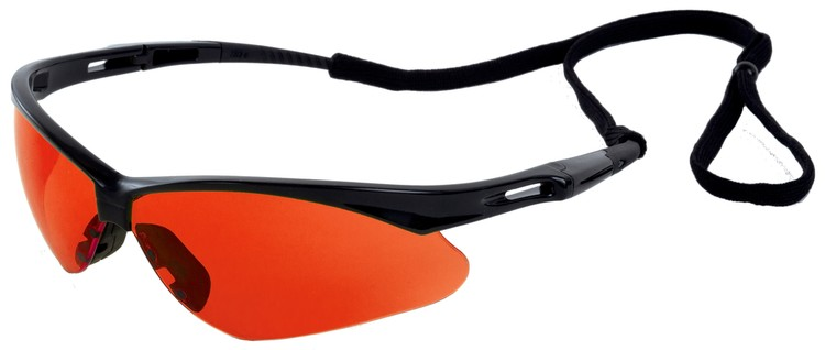 Octane Safety Glasses (Black Frame/Hi Red Red Lens)