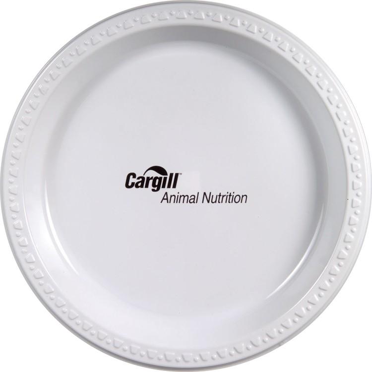 9 White Plastic Plate