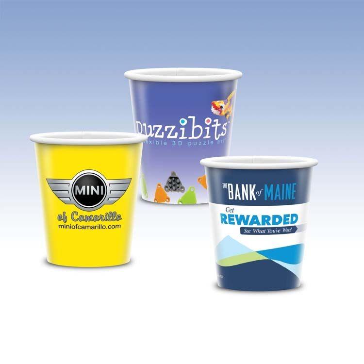 Visstun®-9oz-Reusable White Plastic Cup-Hi-Definition Full-Color, Top-Shelf Dishwasher Safe