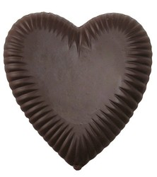 CHOCOLATE HEART LARGE PLEATED ON A STICK