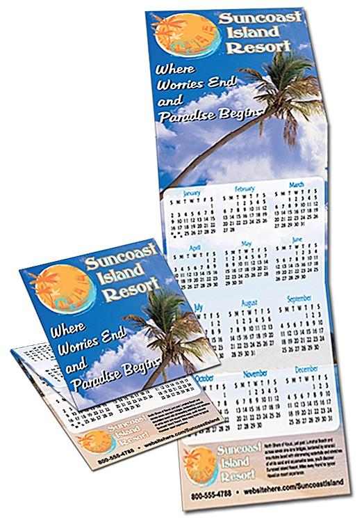 Tri-Fold Calendar - 5.3x17 - 4 pt. Gloss Text