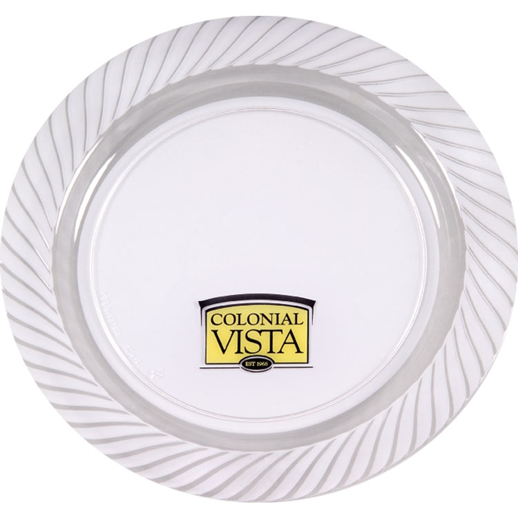 10.25 Clear Plastic Plate