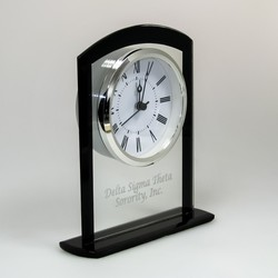 Glass Upright Arched Top Clock
