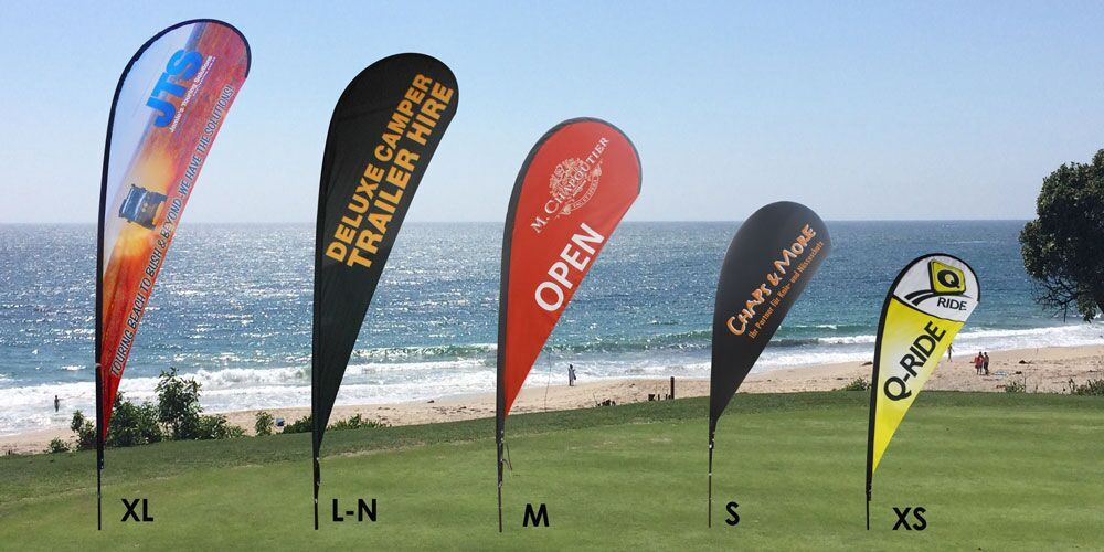 Full Color Custom Tear Drop Banners