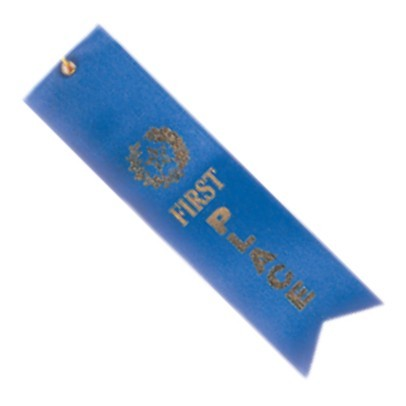 First Place Ribbon 2 x 8
