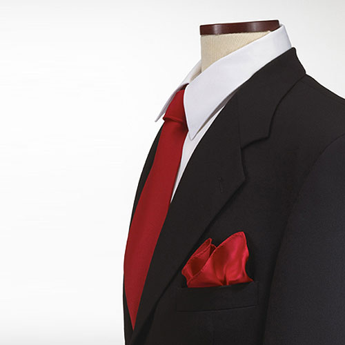 Red Polyester Pocket Square