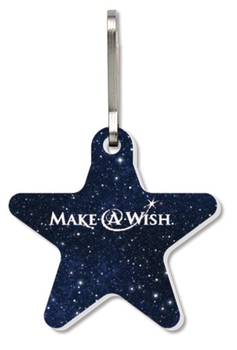 Bag & Luggage Tag (Zipper Pull) - Large Star - Full Color