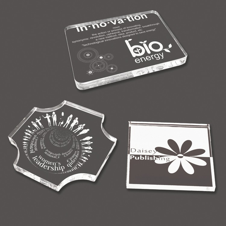Etched Acrylic Paper Weight (Up to 6 Square Inch)