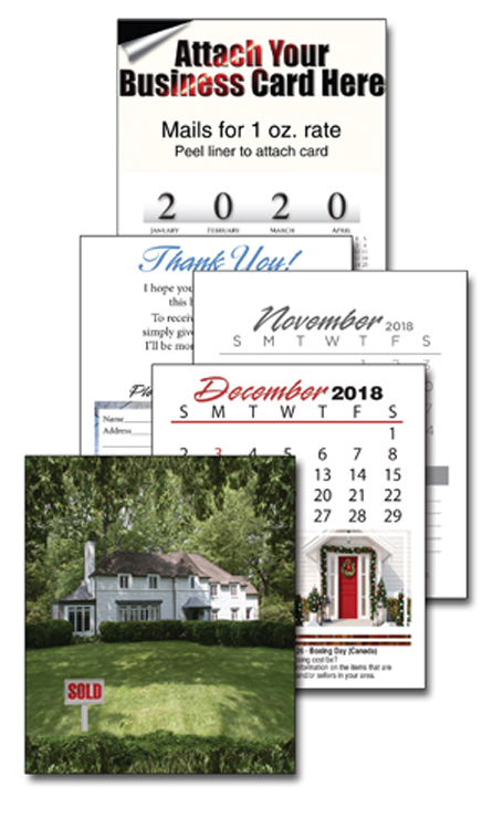 13 month realtor business card calendar with cover rc101 additional images reheart Choice Image