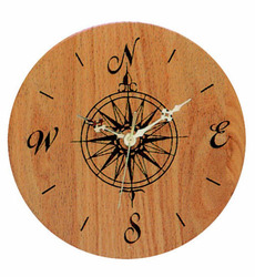 Solid Hardwood Wall Clock - Round - USA