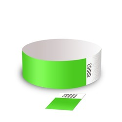 Tyvek 1 Detachable Ticket Wristbands - STOCK