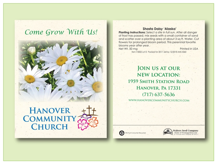 Shasta Daisy Seed Packet - Imprinted Seed Packet