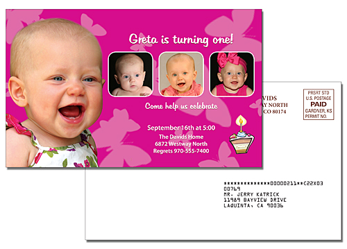 Announcement Laminated Card - 5.25x8.5
