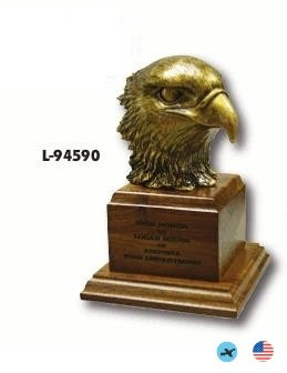 Antique Gold Eagle Head On Base Award